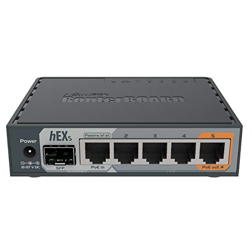 MikroTik hEX S Gigabit Ethernet Router with SFP Port (RB760iGS)