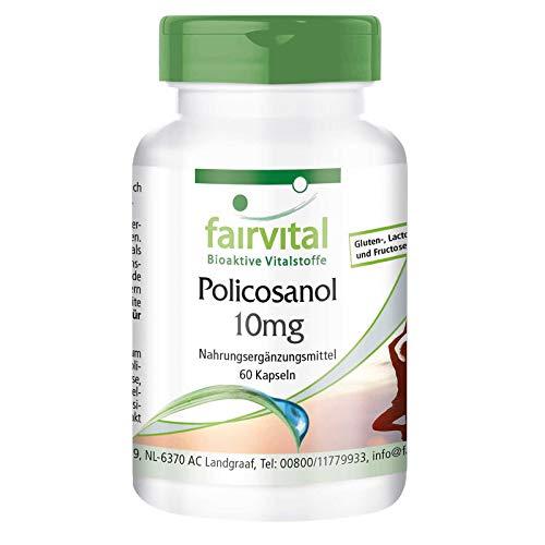 Policosanol 10mg - VEGANO - Dosis elevada - 60 Cápsulas - Calidad Alemana