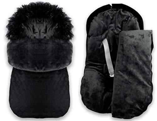 BlueKitty Fußsack, 0-13 kg, Winterfußsack, Kinderautositz, Kinderwagensack, Schlafsack, Wasserdicht, Wasserabweisend, Winter, Herbst, 85 cm