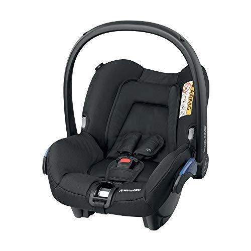 Maxi-Cosi Citi Babyschale, federleichter Baby-Autositz Gruppe 0+ (0-13 kg), nutzbar ab der Geburt bis ca. 12 Monate, Black Diamond (schwarz)
