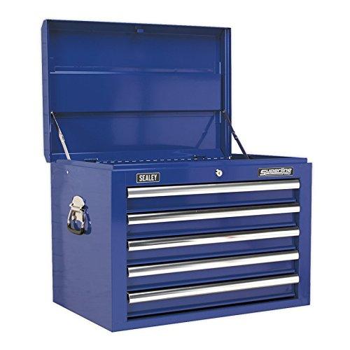 SEALEY gereedschapskist 5 laden met kogellagerfolies - blauw