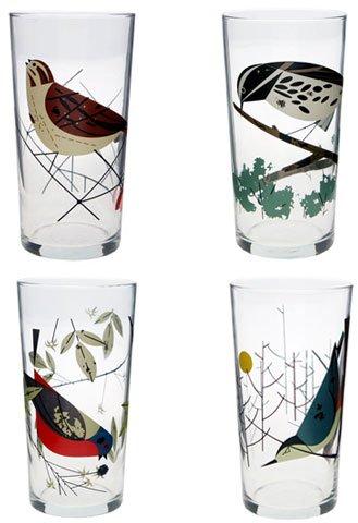 Charley Harper Original Birds Glasses (Box of 4)