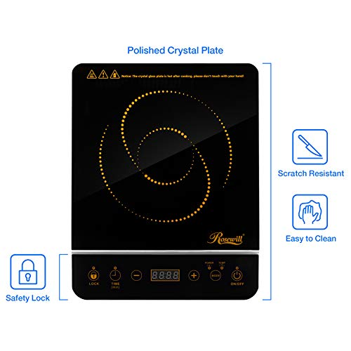 Rosewill 1800 Watt Induction Cooker Cooktop , Included 10