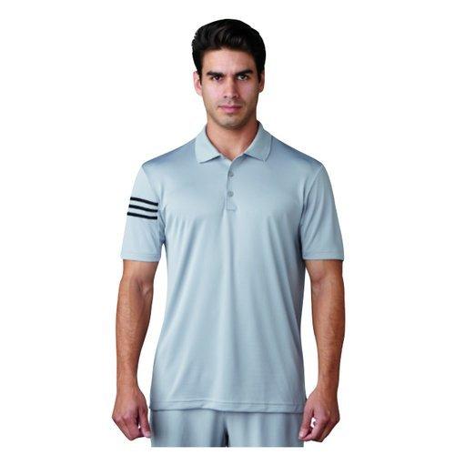adidas Golf Climacool 3Stripes Club Crestable Shirt Polo-Shirt, Herren M grau