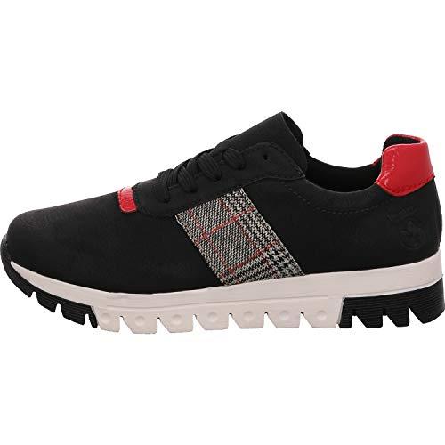Rieker Damen L2904 Sneaker, schwarz/Flamme/grau-rost 00, 42 EU