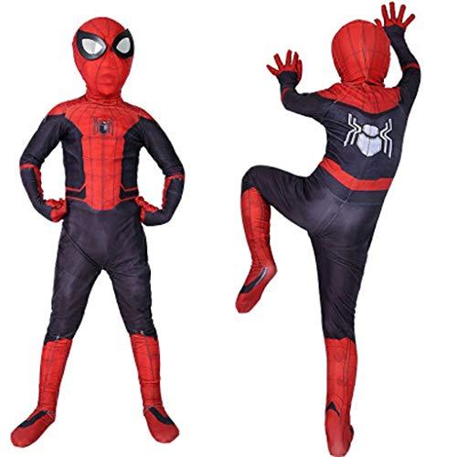 YUNMO Fun Ausrüstung Anime Filmfigur Spider-Man Kostüm Siamesische Strumpfhose Cosplay Kinder Halloween Rollenspiele (Color : A, Size : S)
