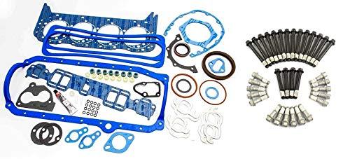 Fel Pro 260-1269 Overhaul Gasket Kit & Elgin Head Bolt set compatible with 1989-95 TBI SBC 5.7L Chevy 350