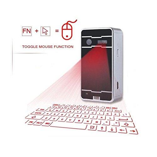ELEGENCE-Z Teclado De Proyección, Portátil De Proyección Virtual Smartphone Bluetooth Inalámbrico Teclado De Computadora Portátil (38 * 75 Mm)