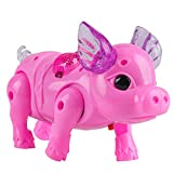 Shuohu Electric Walking Singing Musical Light Up Pig Toy with Leash Kids Interactive Toy Christmas Toy Gift Random Color