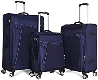 Giordano Luggage Trolley Bags For Unisex 3 Pcs, Navy, 162772