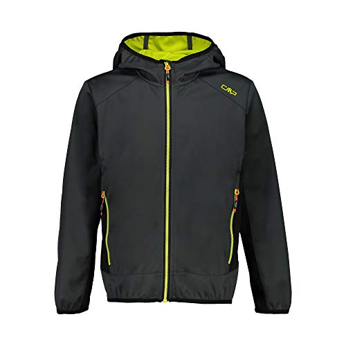 CMP Jungen Softshell Jacket with Fixed Hood Jacke, Jungle-Energy, 164