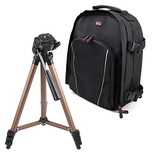 DURAGADGET Mochila + Trípode Profesional para Cámara Canon EOS 200D / Rebel SL2, Canon EOS 4000D, Canon EOS 5D Mark IV, Canon EOS 6D Mark II, Canon EOS 77D