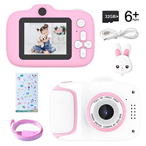 Cámara para Niños Juguete para Niños Cámara Digital para Niños 2 Inch HD Pantalla 1080P con Tarjeta de Memoria de 32GB Regalos Cámara Juguete para 3 a 12 años Niños y niñas