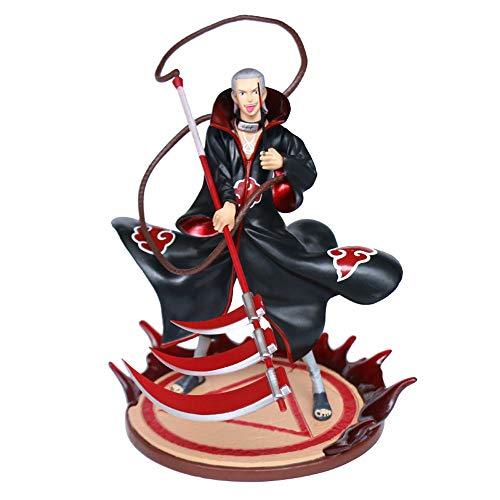 RUIXUE Naruto/Hidan/Figura de acción de PVC/Modelo de Personaje de Juego de Anime/Decoración de Escritorio de Personaje estático/Decoración de Caja de computadora Junto a la Cama/Regalos d