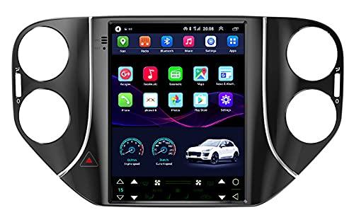 HYCy Il Navigatore GPS per Auto Dvd È Adatto per Volkswagen Tiguan 10-16 Versione 1+16G Collegamento Specchio Supporto Schermo Verticale di Navigazione