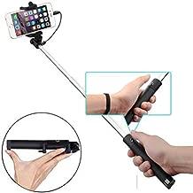 Ultra Compact Wired Selfie Stick Monopod Remote Shutter Self-Portrait Extendable for LG G5 - Motorola Droid Turbo 2 - Samsung Galaxy S7 Edge S6 Edge+ Edge S5, Note Edge 5 4 3, J7 J5 J3