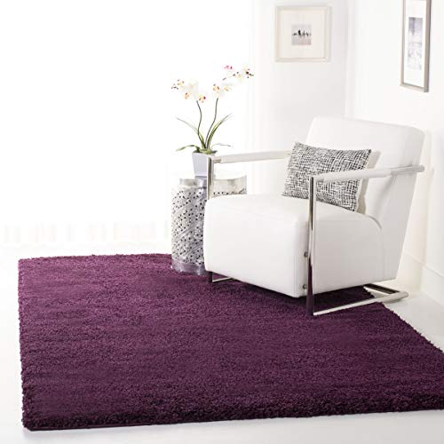 Safavieh California Premium Shag Collection SG151-7373 Area Rug, 8' x 10', Purple