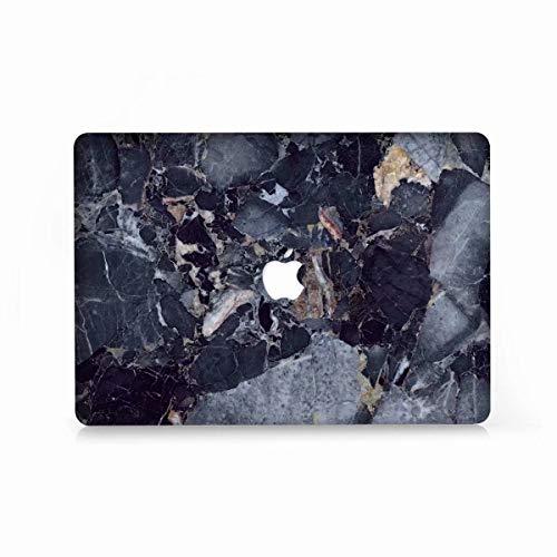 AQYLQ Hart Hülle Compatible with 2018/2017/2016 MacBook Pro 13 Hülle mit/ohne Touch Bar and Touch ID Modell A1706 / A1708 / A1989, Matt Plastik Hartschale Tasche Schutzhülle, DL30 Marine Marmor