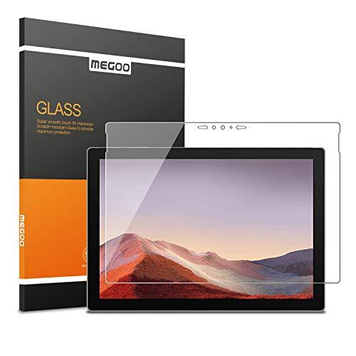 Megoo Glas-Bildschirmschutzfolie für Surface Pro 7 Plus/Surface Pro 7 (2019) – ultradünn 0,25 mm für extreme Berührungsempfindlichkeit (präzise Aussparungen & funktioniert mit Surface Pen)