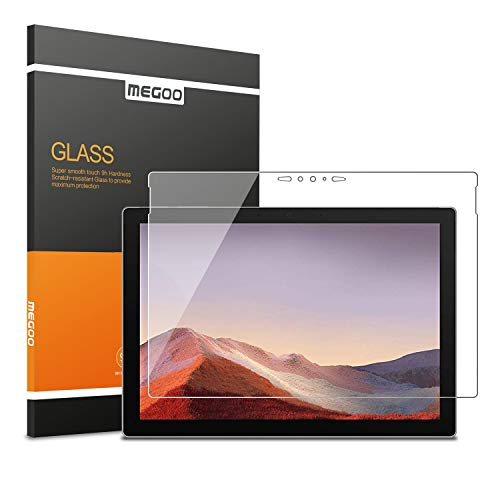 Megoo Glass Screen Protector Designed for Surface Pro 7 (2019) - Ultra-Thin 0.25mm for Extreme Touch Sensitivity (Precise cutouts and Works with Surface Pen)
