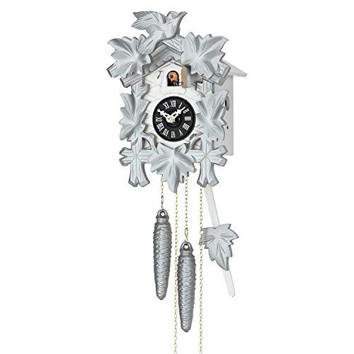 Cuco Clock Kuckucksuhr Silberschmied 1-Tage Werk Wanduhr Schwarzwald Uhr Pendeluhr Kuckuck Nachtabschaltung Regula