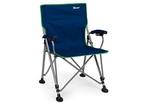 Bertoni Aviator Chaise de Plage avec Ouverture pour Parasol, Bleu, Taille Unique
