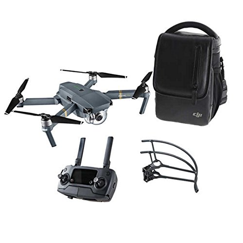DJI Mavic Pro Aerial 4K Camera Drone Bundle w/ Shoulder Bag & Prop Guard (Renewed)