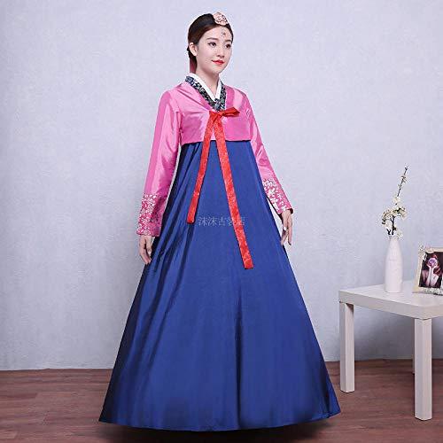 LCIQW Nueva ropa coreana bronceadora étnica bordado flor Hanbok mujeres diarias Corea...