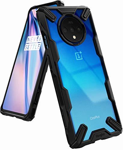 Ringke Fusion-X Gestaltet für OnePlus 7T Hülle, Transparent Rückseite Renovierter TPU Rahmen Bumper Stoßfänger Doppelter Schutz Case für OnePlus 7T (2019) - Schwarz