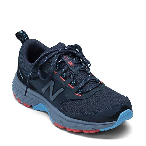 New Balance Women's 510 V5 Trail Running Shoe, Gunmetal/Wax Blue/Wax Blue, 8 W US
