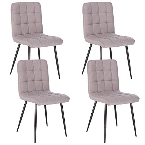Lestarain 4X Sillas de Comedor Silla de Salón Dining Chairs Tapizadas Sillas...