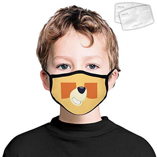 835 antipolvere copertura facciale decorazione lavabile riutilizzabile Wrap Side 2PCS filtri per bambini Cane Bocca Carino Taglia Unica