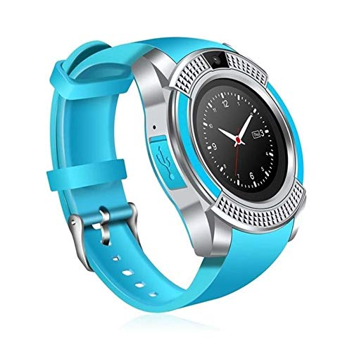 generic Smart Watch with SIM Card Support Compatible with All Mobile Phones for Boys and Girls -Blue