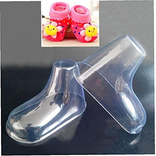 TOSSPER 20 Pcs/Lot de Modèles Réduits en Plastique Pieds Moisissures Bébé Bottillons Fondant Outils De Moules pour Les Chaussures De Laine Tricotés À La Main