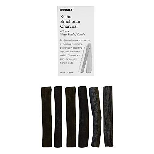 IPPINKA Kishu Binchotan Slim Personal Sticks, 6 Stück Wasserfilter