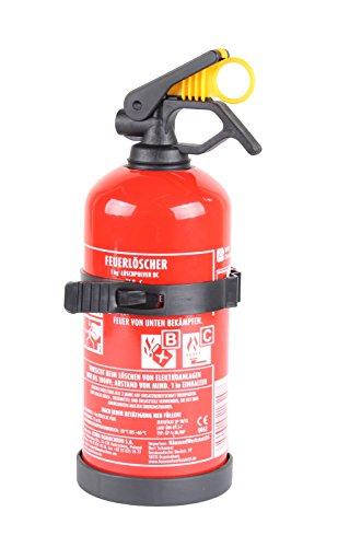 EXDINGER BC-Pulver-Autofeuerlöscher 1kg (Aufladelöscher GP-1Z BC Halterung Sicherungskeil Instandhaltungsnachweis)