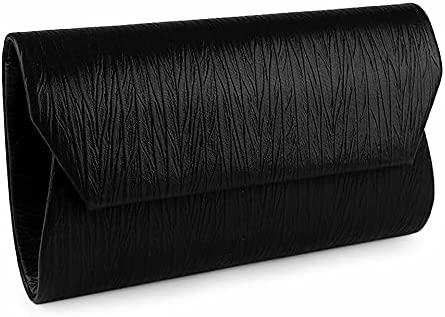 1pc Black Clutch/Formal Evening Purse Metallic, Bags, Handbags, Clutches, Fashion Accessories