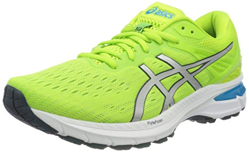 ASICS Herren GT-2000 9 Road Running Shoe, Hazard Green/Pure Silver, 45 EU