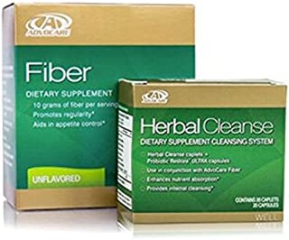 Advocare Herbal Cleanse & Unflavored Fiber Kit + Bonus>Herbal Cleanse 20 Capsules & Fiber 10 Pouches