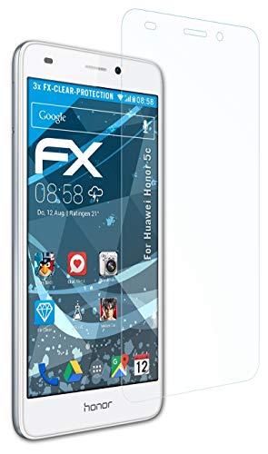 atFolix Schutzfolie kompatibel mit Huawei Honor 5c / Honor 7 Lite Folie, ultraklare FX Bildschirmschutzfolie (3X)
