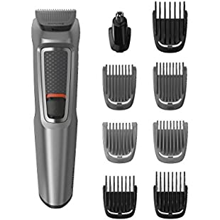 Philips Series 3000 9-in-1 Multi Grooming Kit for Beard and Hair with Nose Trimmer Attachment - MG3722/33:Diet-beauty