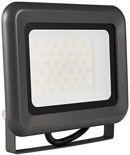 LUMIRA® LED Fluter, 30W, 2400 Lumen, 4500 Kelvin, Neutralweiß, Ersatz für 300W Halogen Flutlicht-Strahler, Wasserdichte Außen-Leuchte, Aluminium Gehäuse, Scheinwerfer für Innen- und Außenbereich, IP65