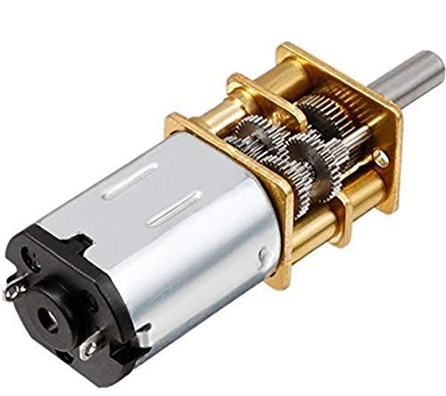 Yosoo Mini DC 6 / 12V Kurzer Welle Drehmoment Getriebemotor 50/200 / 300 RPM mit Metall Getriebe Ersatz N20 für RC-Car, Roboter Modell, DIY Engine Spielzeug (12V 200RPM)