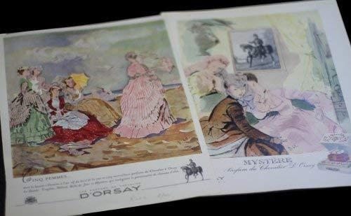 Huit publicités pour les parfums d'Orsay