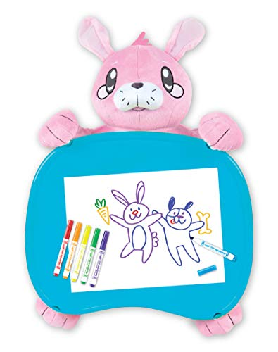 Crayola Travel Lap Desk with Storage, Bunny Stuffed Animal, Gift for Kids, Age...