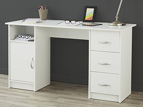 trend-moebel Schreibtisch COMPUTERTISCH BÜRO PC-Tisch Home Office Weiss NEU