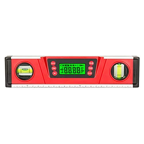 Digitale Wasserwaage Winkelmesser V-Groove Magnetfuß DL136 Elektronische Blase Inclinometer Red Precision Industrial Instruments Mess
