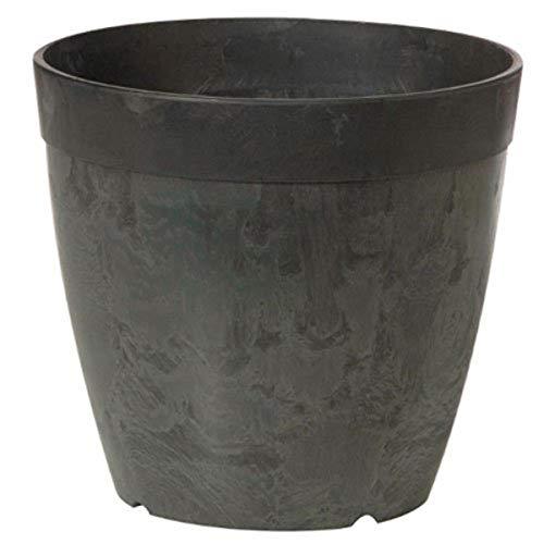 Fantaisie MFG 03088 Rond Dolce Pot de Fleurs, 20,3 cm, Noir