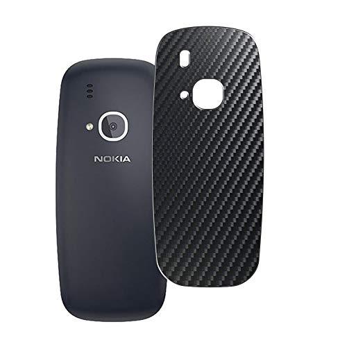Vaxson 2 Unidades Protector de pantalla Posterior, compatible con NOKIA 3310 TA-1030, Película Protectora Espalda Skin Cover - Fibra de Carbono Negro