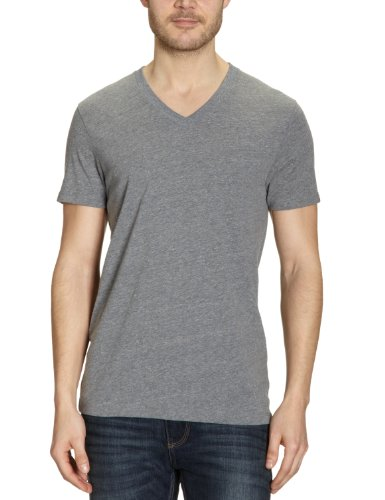 Vans T-shirt Basic VIUO avec col en V pour homme Gris Gris X-Large